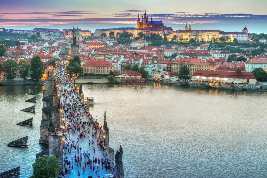 prague, architecture, bridge