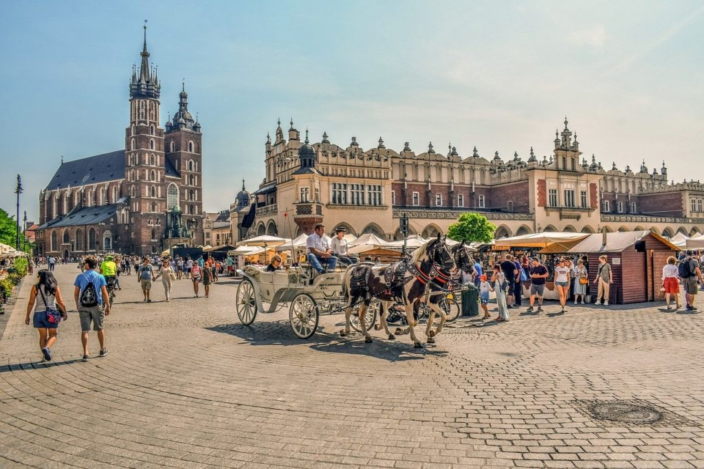 krakow, town, square