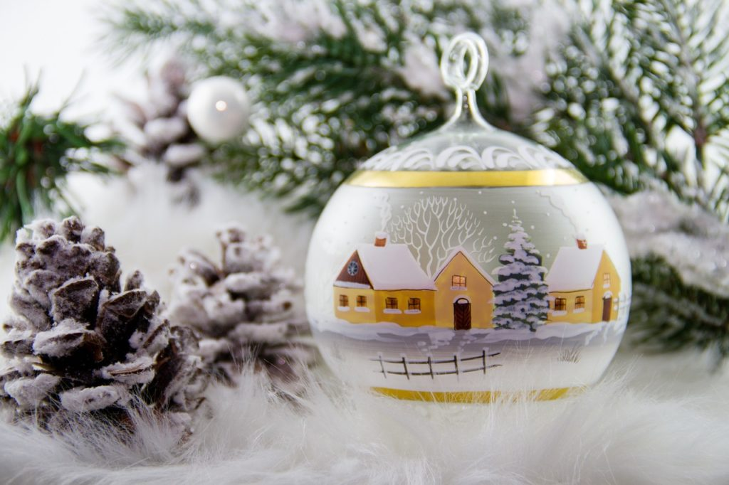 christmas, glass ball, advent